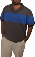 Aam Shopping Solid Men's Polo Neck Grey, Blue T-Shirt
