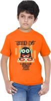 Tantra Boys Graphic Print T Shirt(Orange, Pack of 1)