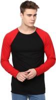 Unisopent Designs Solid Men's Round Neck Black, Red T-Shirt