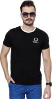 University of Oxford Solid Men's Round Neck Black T-Shirt