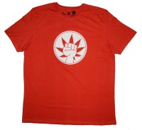 Udankhatola Printed Men's Round Neck Red T-Shirt