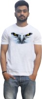 Lovely Collection Printed Mens Round Neck White T-Shirt