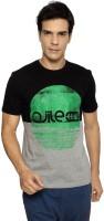 Ajile by Pantaloons Printed Men's Round Neck Black T-Shirt