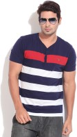 Gant Striped Men's Henley Blue, White T-Shirt