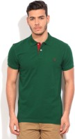 Gant Solid Mens Polo Neck Green T-Shirt