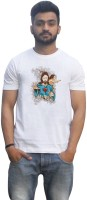 Lovely Collection Graphic Print Men's Round Neck White T-Shirt