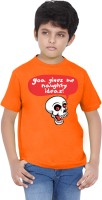 Tantra Boys Graphic Print T Shirt(Orange, Pack of 1)