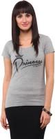 Yepme Printed Womens Round Neck Grey T-Shirt