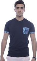 Urban Flux Solid Men's Round Neck Black T-Shirt