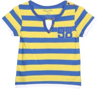 Chirpie Pie by Pantaloons Boys Striped T Shirt(Yellow, Pack of 1)