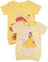Disney Princess Girls Printed T Shirt(Yellow)