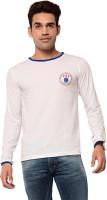 Ebry Solid Mens Round Neck White T-Shirt