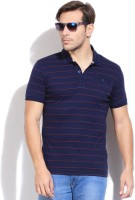 Puma Striped Men's Polo Neck Blue T-Shirt