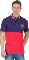 Wilkins & Tuscany Solid Mens Polo Neck Orange T-Shirt
