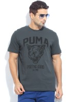 Puma Printed Men's Round Neck Blue T-Shirt