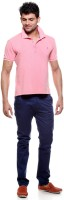 Tog Solid Men's Polo Neck Pink T-Shirt