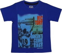 SuperYoung Graphic Print Boys Round Neck Blue T-Shirt