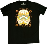 Udankhatola Printed Men's Round Neck Black T-Shirt