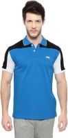 Ajile by Pantaloons Solid Men's Polo Neck Dark Blue T-Shirt