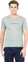 Okane Printed Men's Round Neck Grey T-Shirt