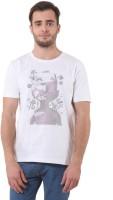 Purys Printed Men's Round Neck White T-Shirt