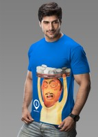 Imagica Printed Men's Round Neck Blue T-Shirt