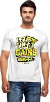 Nihaal Printed Men's Round Neck White T-Shirt