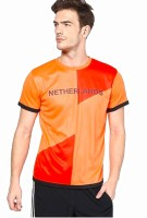T10 Sports Printed Mens Round Neck Multicolor T-Shirt