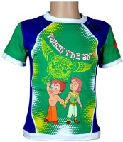 Chhota Bheem Boys Printed T Shirt(Green, Pack of 1)