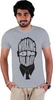 Enquotism Printed Men's Round Neck Grey T-Shirt