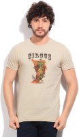 Pepe Jeans Printed Men's Round Neck Beige T-Shirt