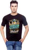 Nihaal Printed Men's Round Neck Black T-Shirt