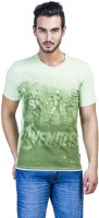 Avengers Printed Men's Round Neck Green T-Shirt