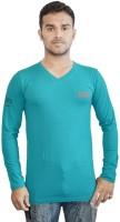 Al-Harsha Trend Solid Men's V-neck Green T-Shirt