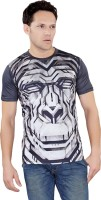 Tantra Graphic Print Men's Round Neck Grey T-Shirt