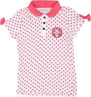 Disney Girls Polka Print T Shirt(White)