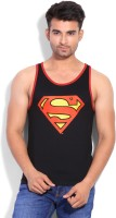 DC Comics Printed Mens Round Neck Black T-Shirt