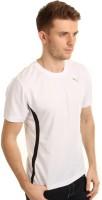 Puma Solid Men's Round Neck White T-Shirt