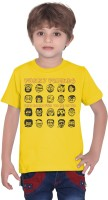 Tantra Boys Graphic Print T Shirt(Yellow, Pack of 1)