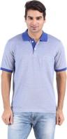Furore Solid Mens Polo Neck Blue T-Shirt