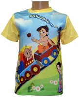 Chhota Bheem Boys Printed T Shirt(Yellow, Pack of 1)