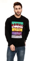Ebry Printed Mens Round Neck Black T-Shirt