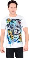 Tantra Graphic Print Men's Round Neck White T-Shirt