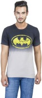 Batman Printed Mens Round Neck Grey T-Shirt