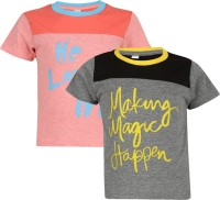 Luke and Lilly Boys Printed Cotton T Shirt(Multicolor)