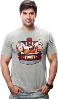 Imagica Printed Men's Round Neck Grey T-Shirt