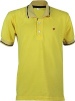 Cay Boys Solid Cotton T Shirt(Yellow, Pack of 1)