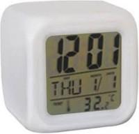 Color Change Digital White Clock