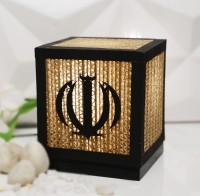 Sylvn Studio Allah Table Lamp(14 cm, Brown, Black)