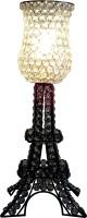 Decor8 Crystal & Iron Eiffel Tower Table Lamp(50 cm, Black)